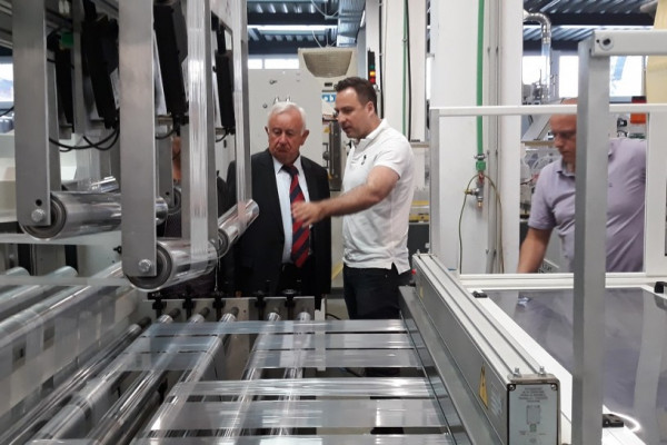Predsjednik i direktorica Županijske komore Sisak posjetili Optiplast
